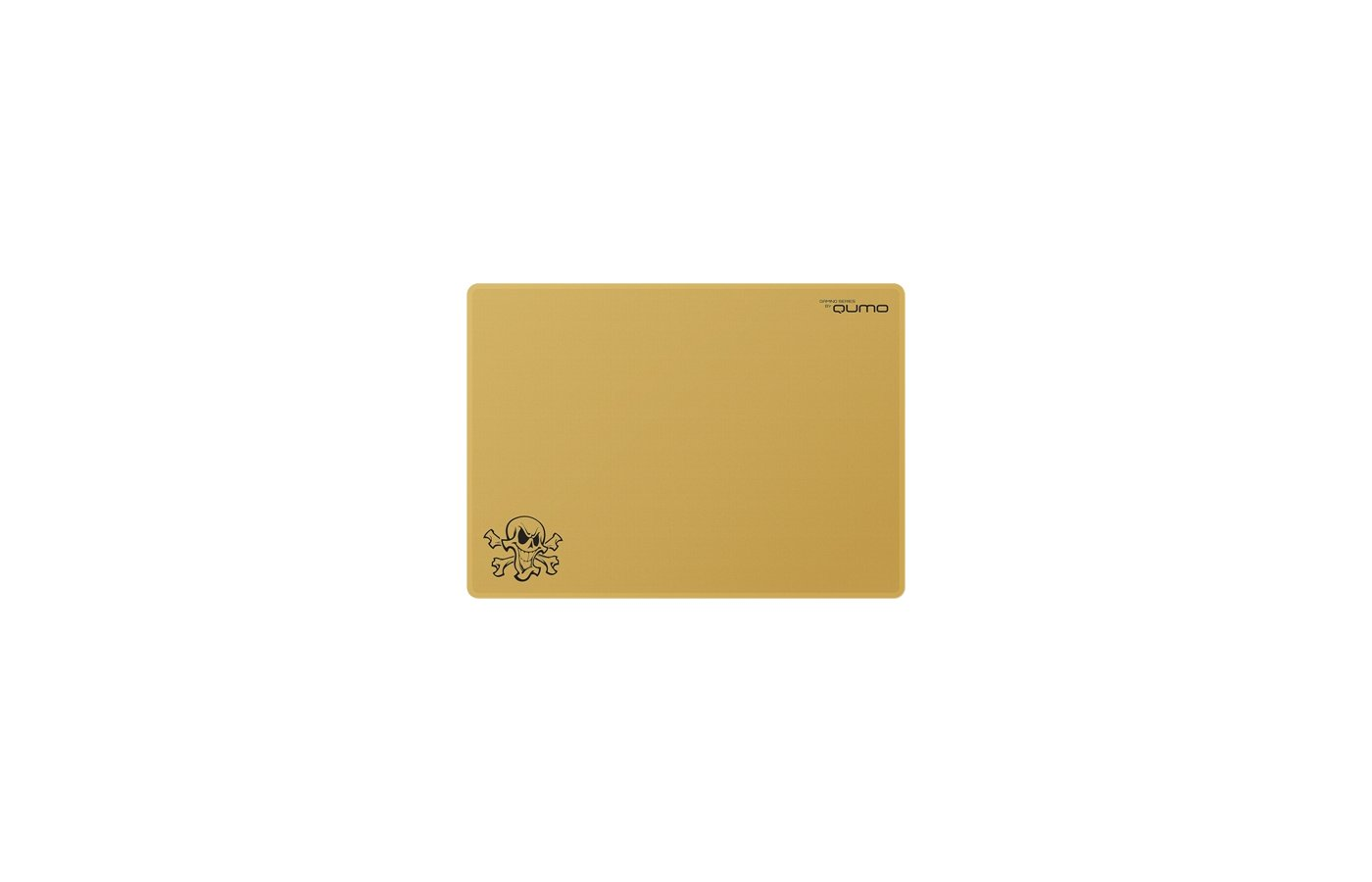 Коврик для мыши Qumo Dragon War Skull 320x230x1 золотой
