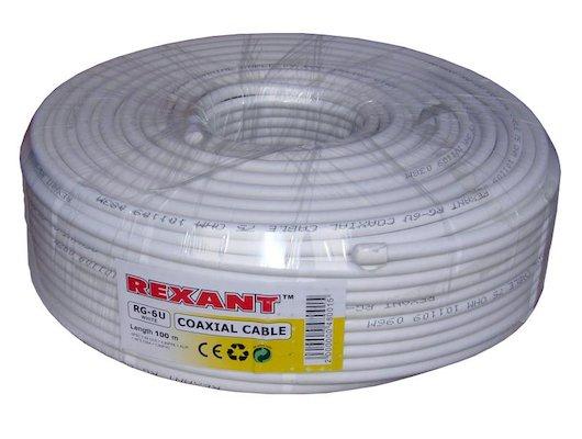 Кабель Rexant RG-6U (100м.) цена за 1 метр белый (75 Ом)