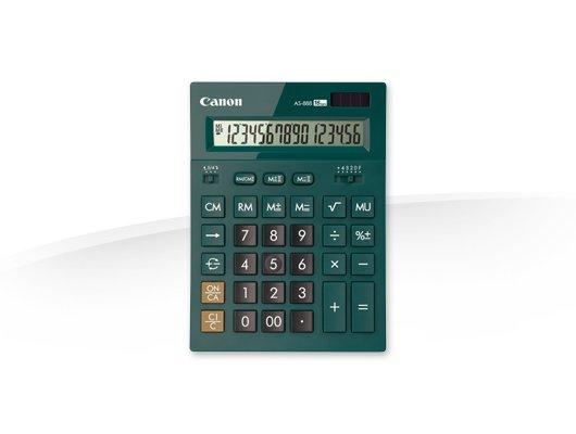 Калькулятор Canon AS-888-DGR изумрудный 16-разр.