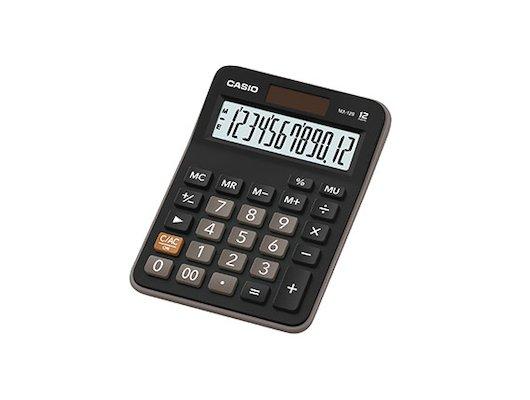 Калькулятор CASIO MX-12B черный/коричневый 12-разр.