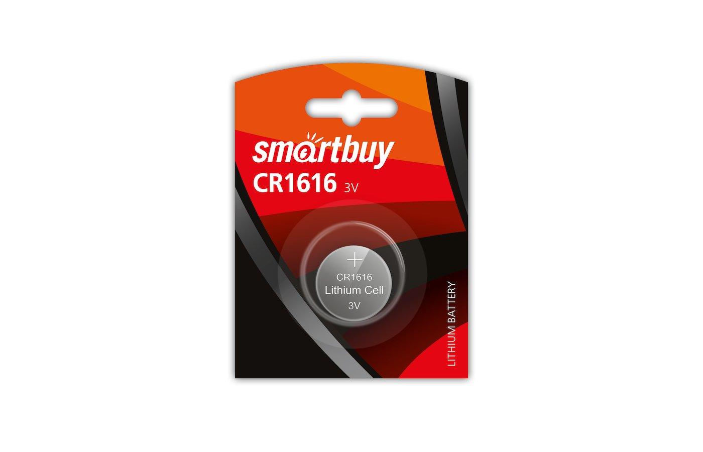 Батарейка Smartbuy CR1616 1шт. (SBBL-1616-1B)