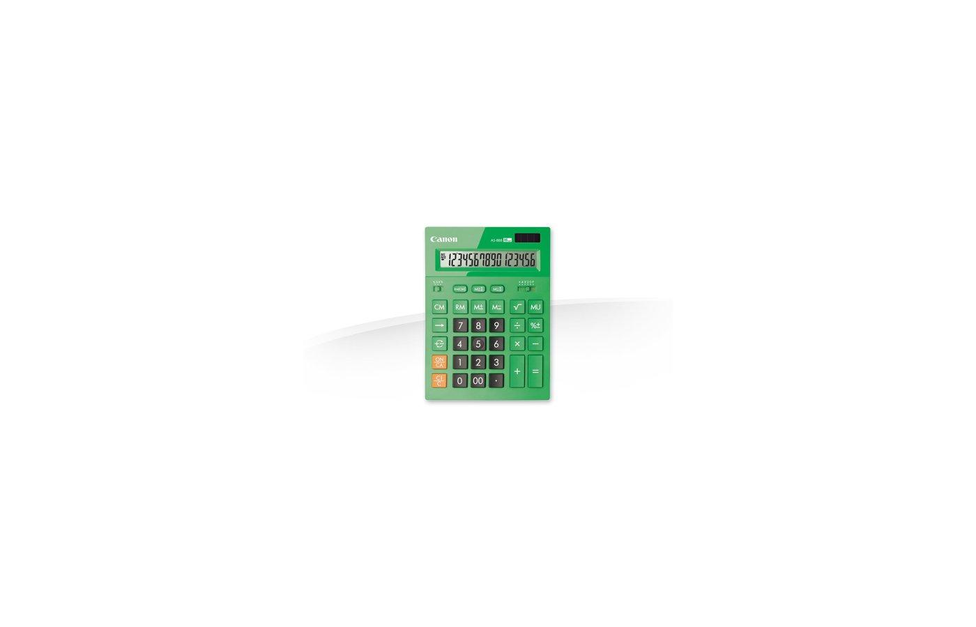 Калькулятор Canon AS-888-GR зеленый 16-разр.