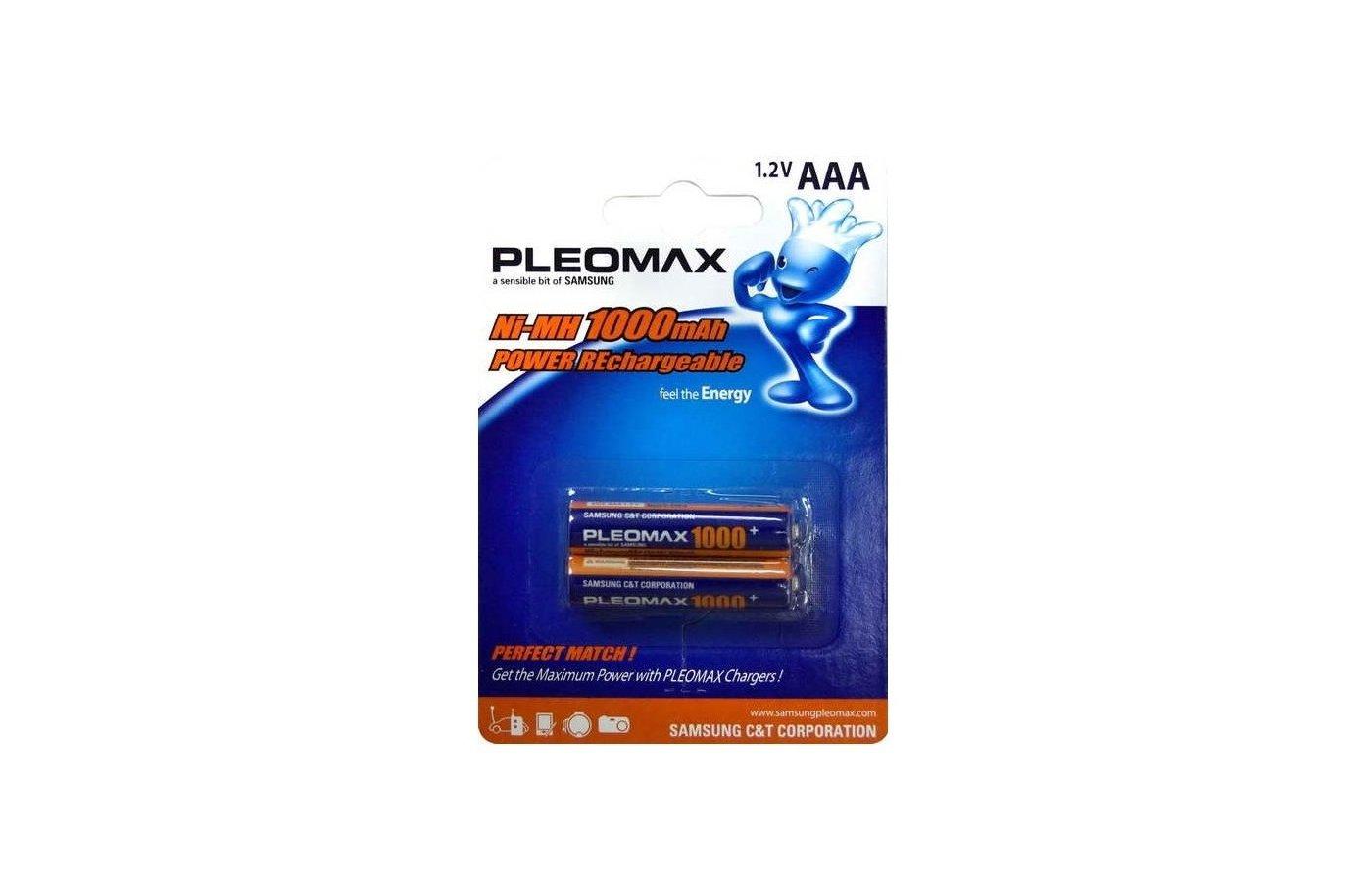 Аккумулятор SAMSUNG Pleomax AAA 1000mAh Ni-Mh 2шт. (HR03-2BL)