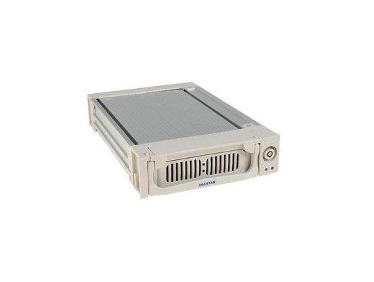 Корпус для жесткого диска AgeStar Сменный бокс для HDD AMR1- SATA(K)-3F SATA алюминий серебристый