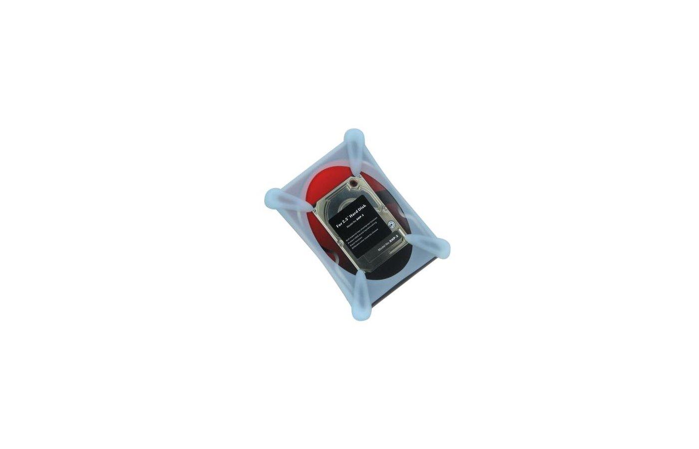 "Корпус для жесткого диска AgeStar Защитный чехол для HDD 2.5"" SHP-2-J W силикон белый"