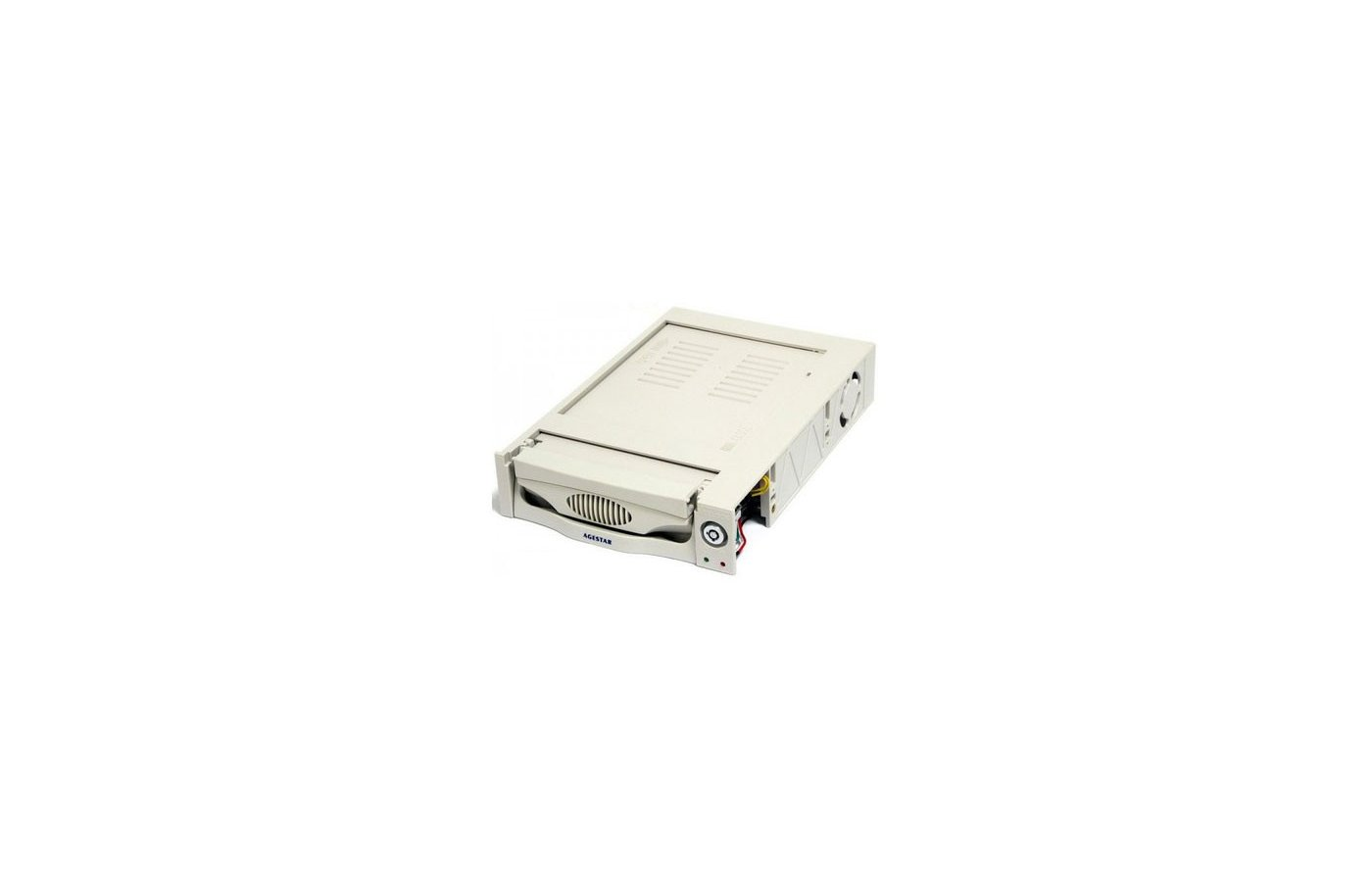 Корпус для жесткого диска AgeStar Сменный бокс для HDD MR3-SATA(S)-1F SATA II пластик бежевый