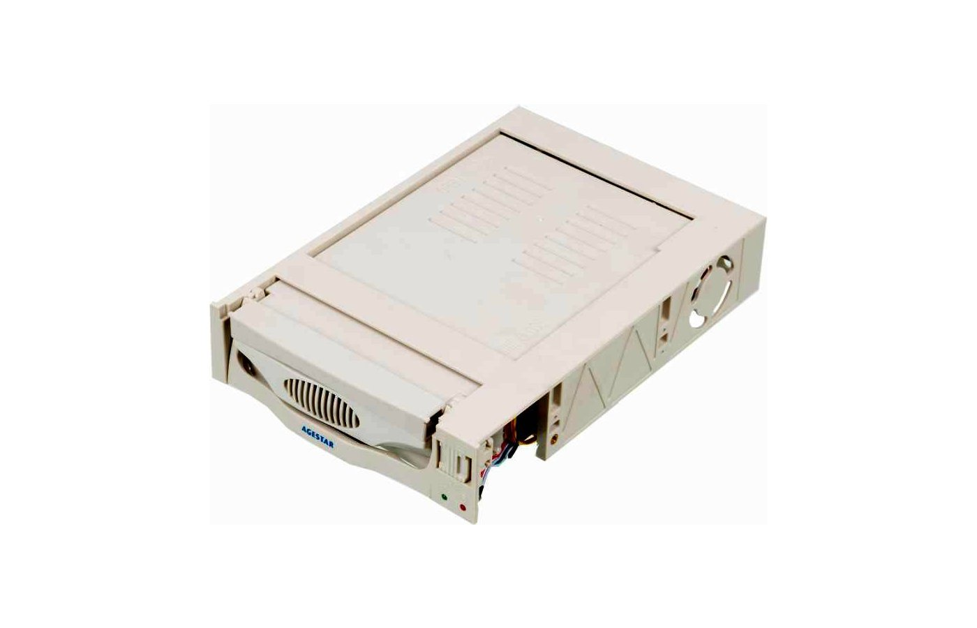 Корпус для жесткого диска AgeStar Сменный бокс для HDD MR3-SATA(SW)-1F SATA II пластик бежевый
