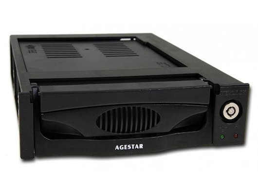 Корпус для жесткого диска AgeStar Сменный бокс для HDD MR3-SATA (K)-3F SATA II пластик черный
