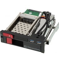 Корпус для жесткого диска Thermaltake Max5 Duo ST0026Z SATA II пластик/сталь черный Сменный бокс для HDD
