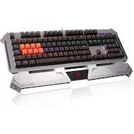 Фото Клавиатура проводная A4Tech Bloody B740A серебристый/черный USB Gamer LED (подставка для запястий)
