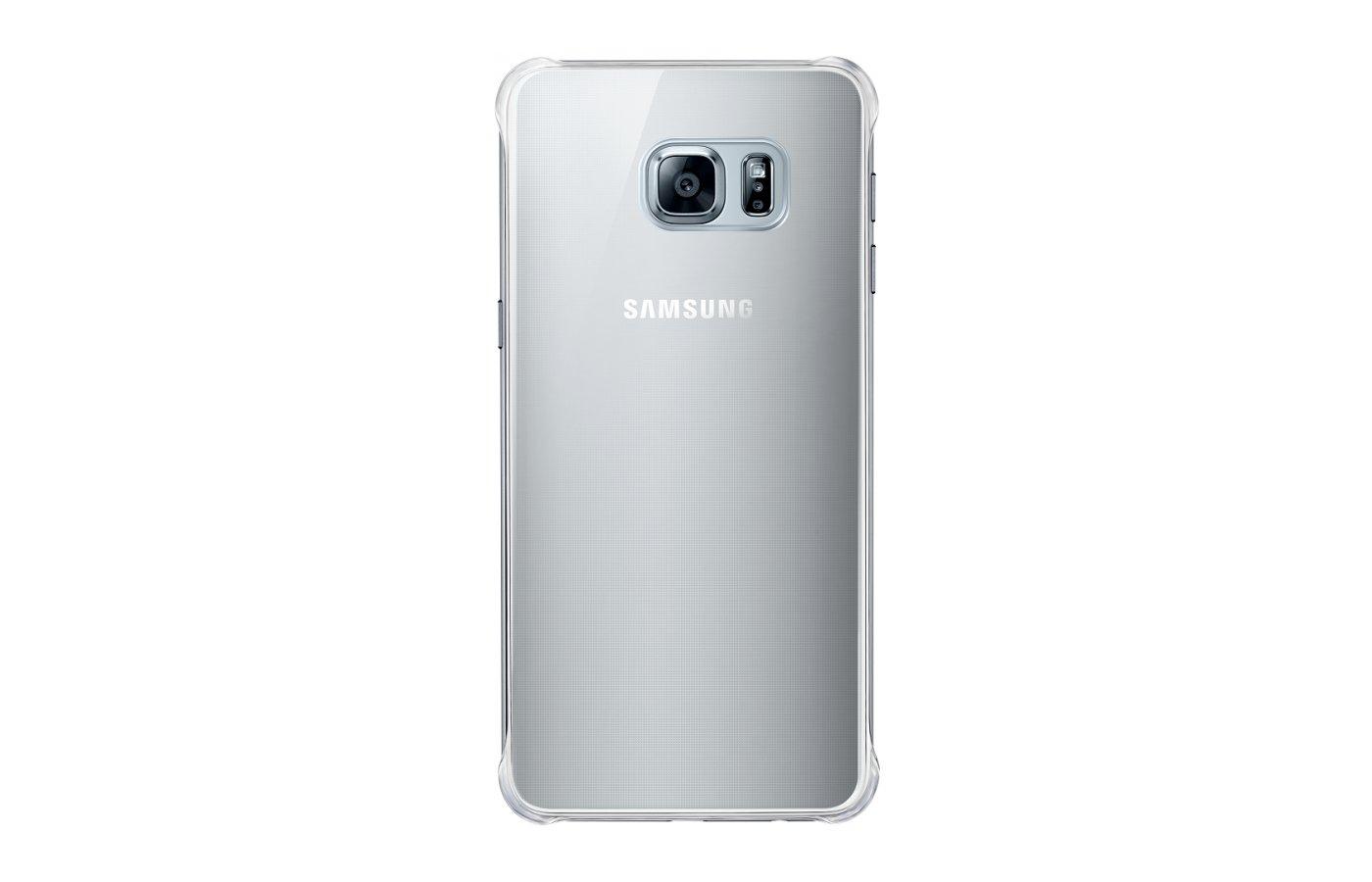 Чехол Samsung СlCover для Galaxy S6 Edge+ (SM-G928) (EF-QG928MSEGRU) серебристый