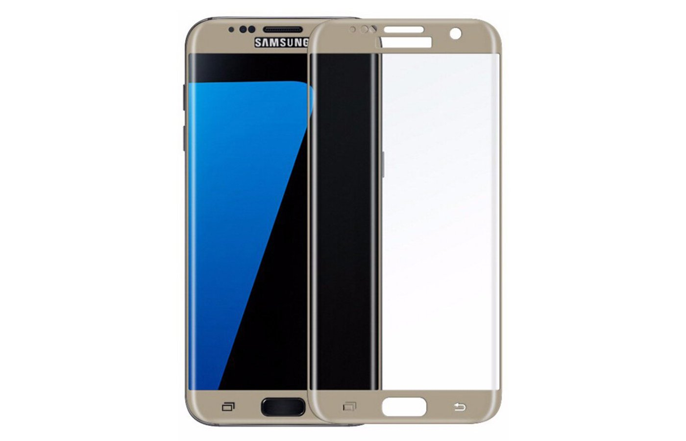 Стекло Solomon 3D для Samsung Galaxy S7 Edge (SM-G935) gold