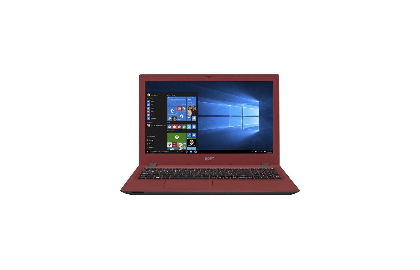 Ноутбук Acer E5-532G-P5FA /NX.MZ3ER.004/ intel N3700/4Gb/500Gb/GF 920M 2Gb/DVDRW/15.6/WiFi/Win10 (Red)