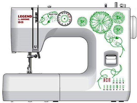 Швейная машина JANOME LE 15