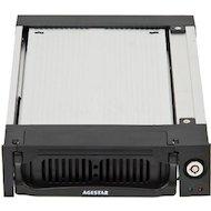 Фото Корпус для жесткого диска AgeStar Сменный бокс AMR1- SATA(K)-3F SATA алюминий черный
