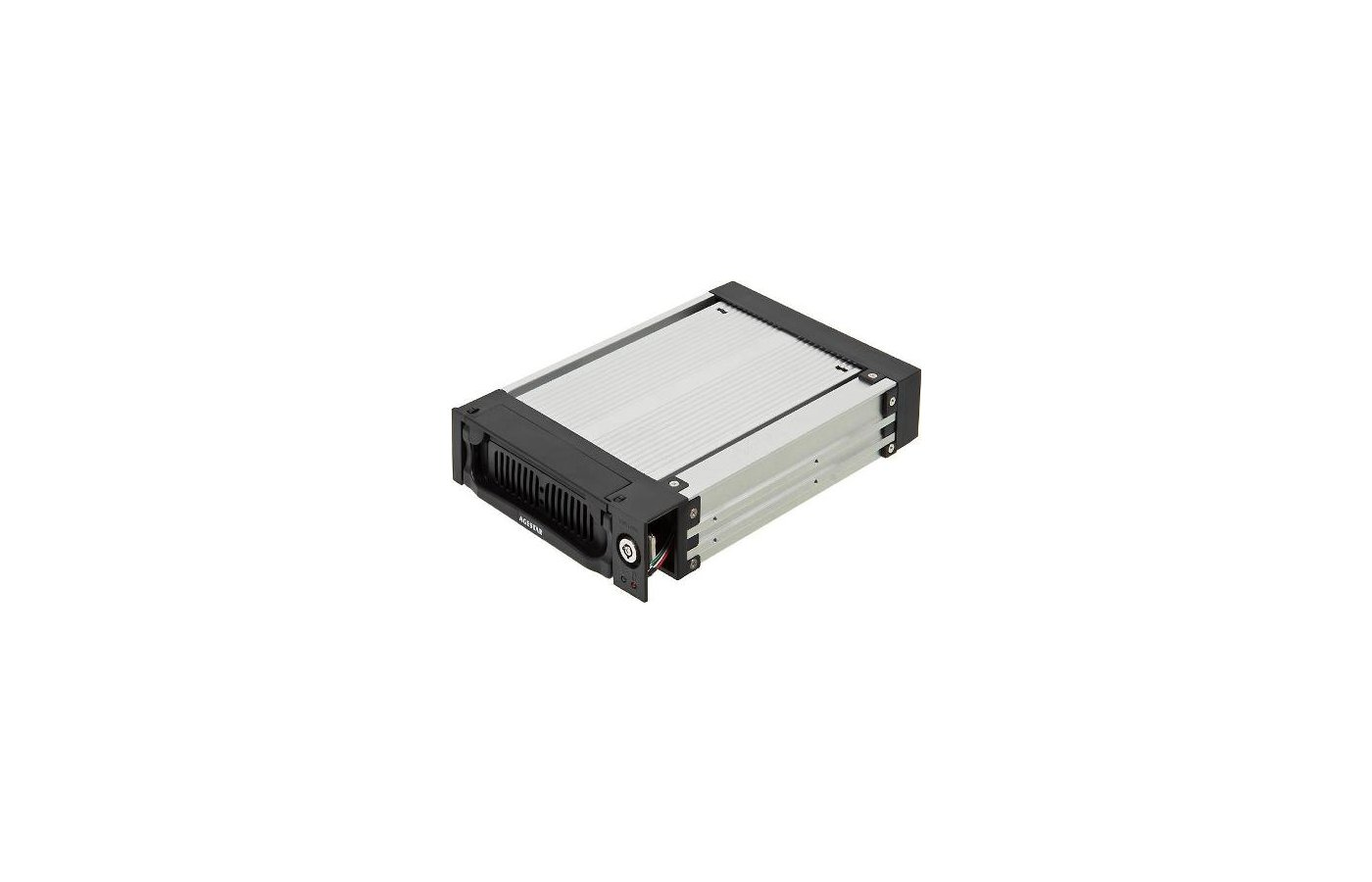 Корпус для жесткого диска AgeStar Сменный бокс AMR1- SATA(K)-3F SATA алюминий черный