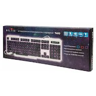 Фото Клавиатура проводная Oklick 740G белый/черный USB LED