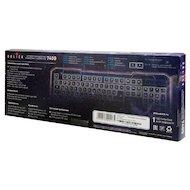 Фото Клавиатура проводная Oklick 740G черный USB LED
