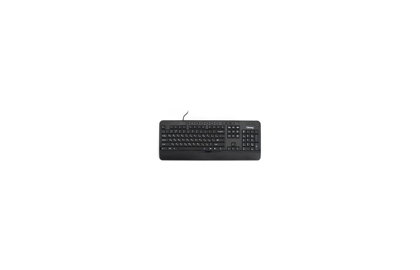 Клавиатура проводная Chicony KU-0950 USB black 10 hot keys build-in palmrest
