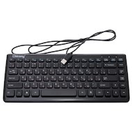 Клавиатура проводная Chicony KU-0903 USB glossy black multimedia internet super small