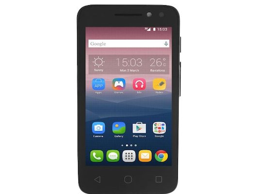 Смартфон Alcatel 4034D PIXI 4 (4) black/black