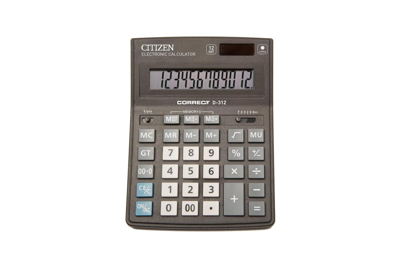 Калькулятор Citizen Correct D-312 черный 12-разр.