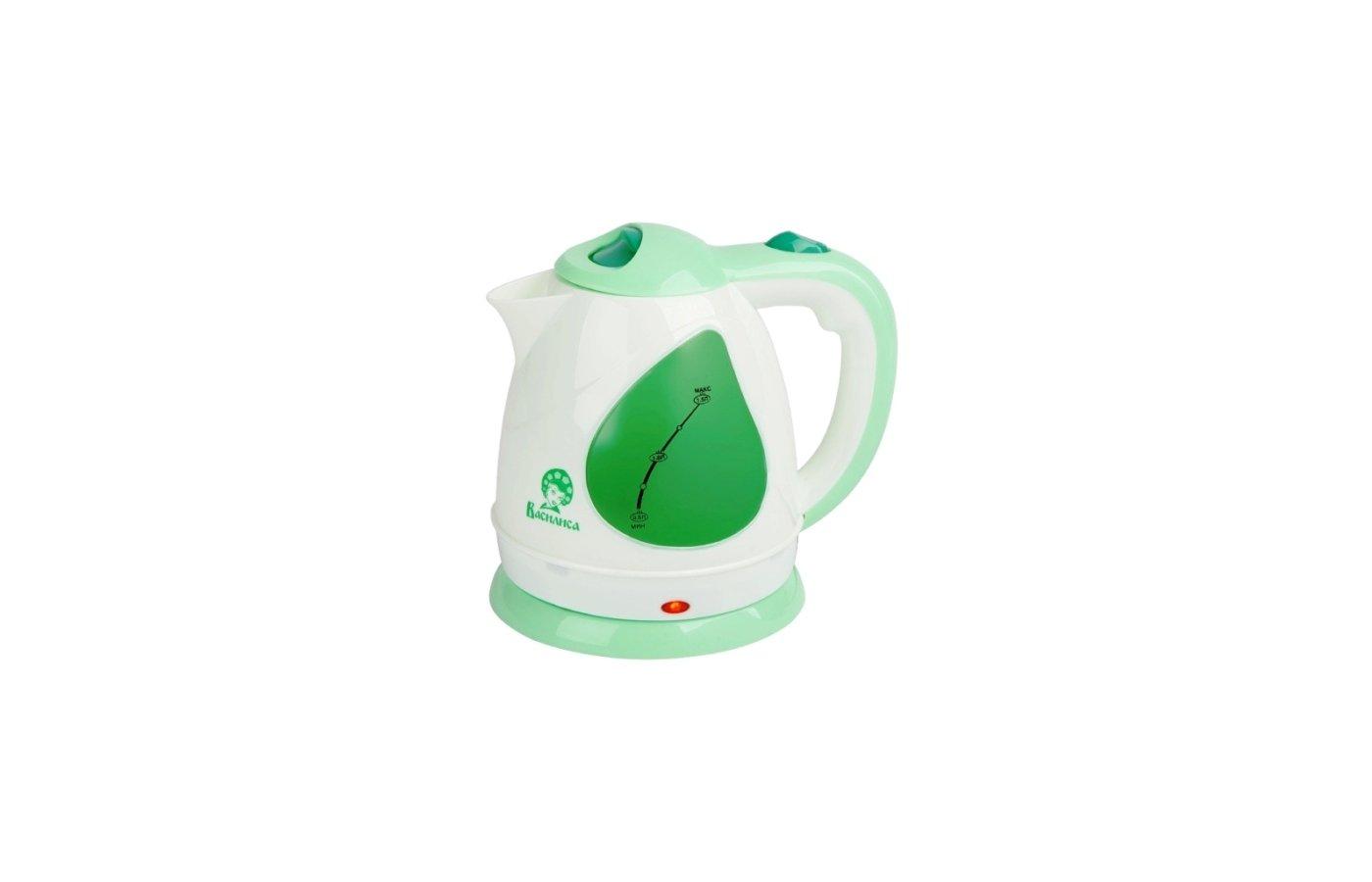 Чайник электрический  Василиса Т1-1500 белый/зеленый