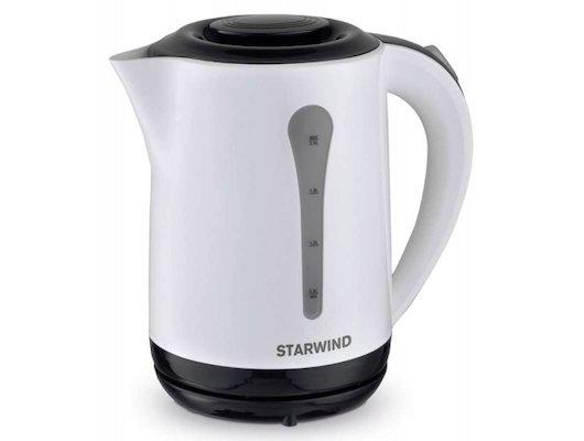 Чайник электрический  StarWind SKP 2212 белый/черный