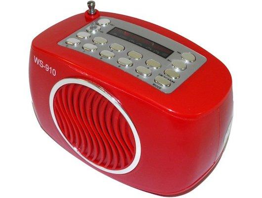 Колонка WSTER WS-910 красная