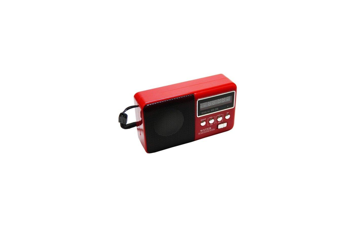 Колонка WSTER WS-239 красная