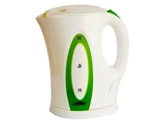 Чайник электрический  DELTA ЭЛЬБРУС-4 белый/зеленый