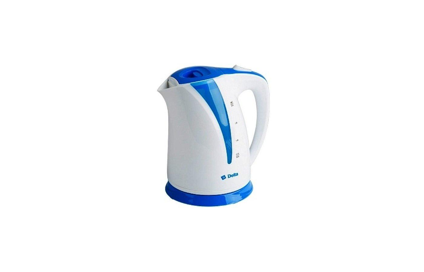 Чайник электрический  DELTA DL-1327 белый/голубой
