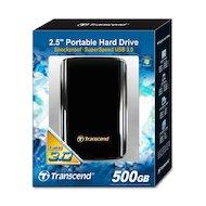 Фото Внешний жесткий диск Transcend (TS500GSJ25A3K) 500GB StoreJet 25A Series 2.5 USB 2.0/3.0