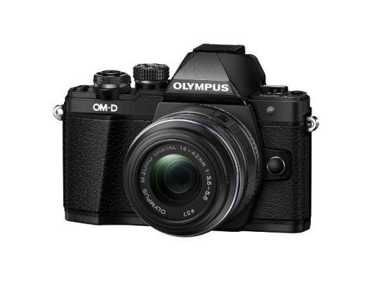Фотоаппарат со сменной оптикой OLYMPUS OM-D E-M10 Kit ( E-M10 Body black + EZ-M1442EZ black )