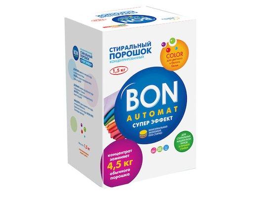 Средства для стирки и от накипи BON BN-139 Концентрированный стиральный порошок (Bon Automat МАКСИ Эффект Универсальный с отбеливающ