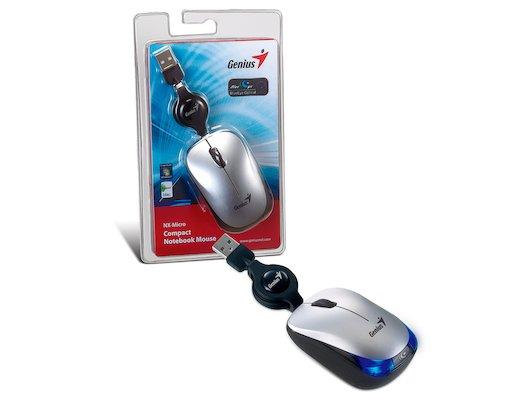 Мышь проводная Genius NX-Micro оптическая USB silver