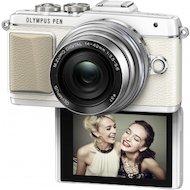 Фото Фотоаппарат со сменной оптикой OLYMPUS PEN E-PL7 Kit ( E-PL7 Body white + EZ-M1442EZ silver )