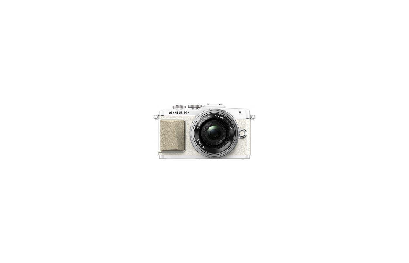 Фотоаппарат со сменной оптикой OLYMPUS PEN E-PL7 Kit ( E-PL7 Body white + EZ-M1442EZ silver )