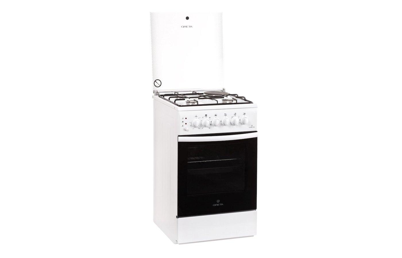 Плита комбинированная GRETA 1470-ГЭ-00 белая