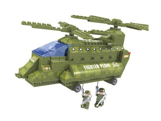 Конструктор AUSINI 22602 Армия. Грузовой вертолёт