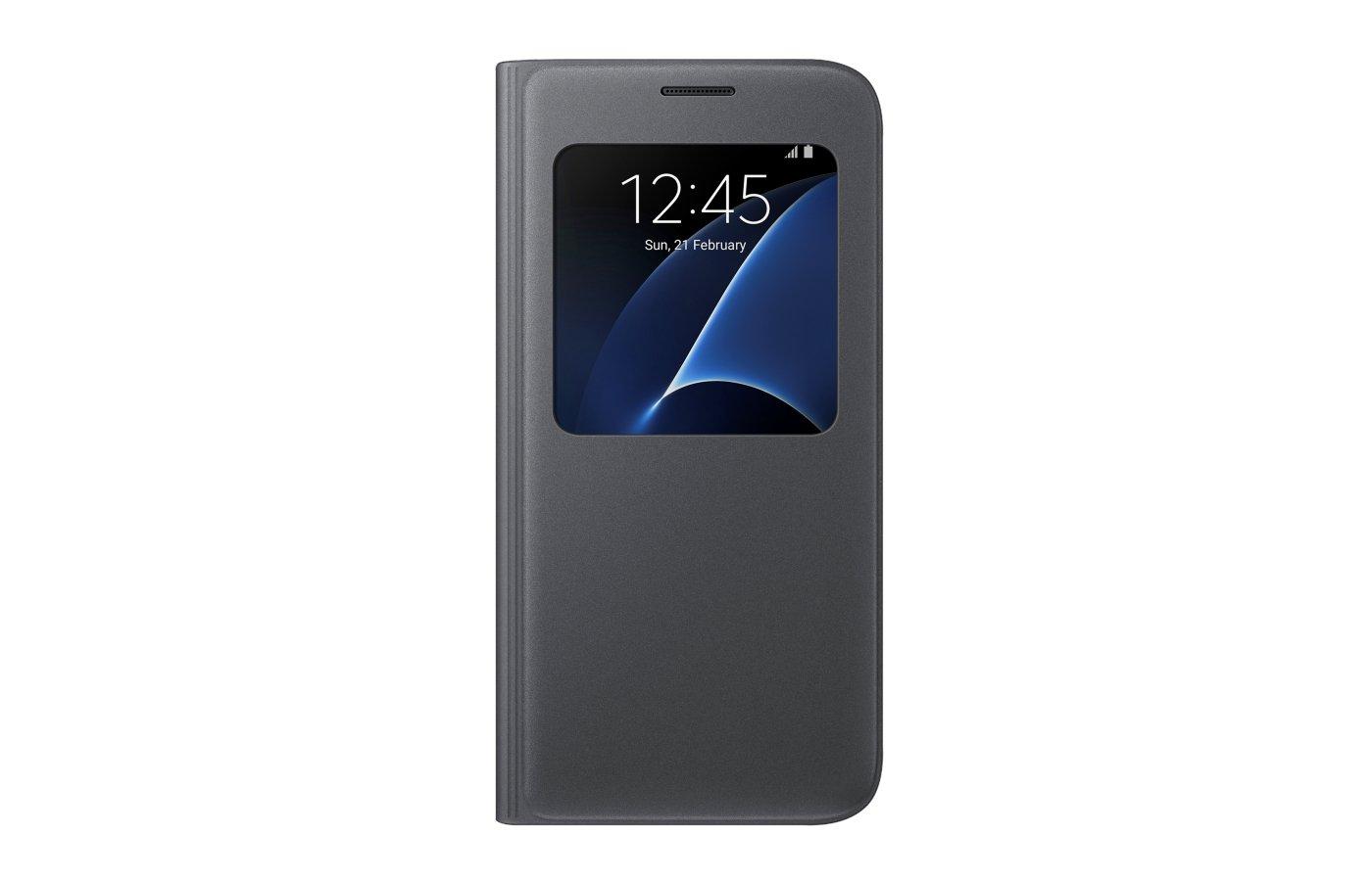 Чехол Samsung S-View для Galaxy S7 (SM-G930) (EF-CG930PBEGRU) черный