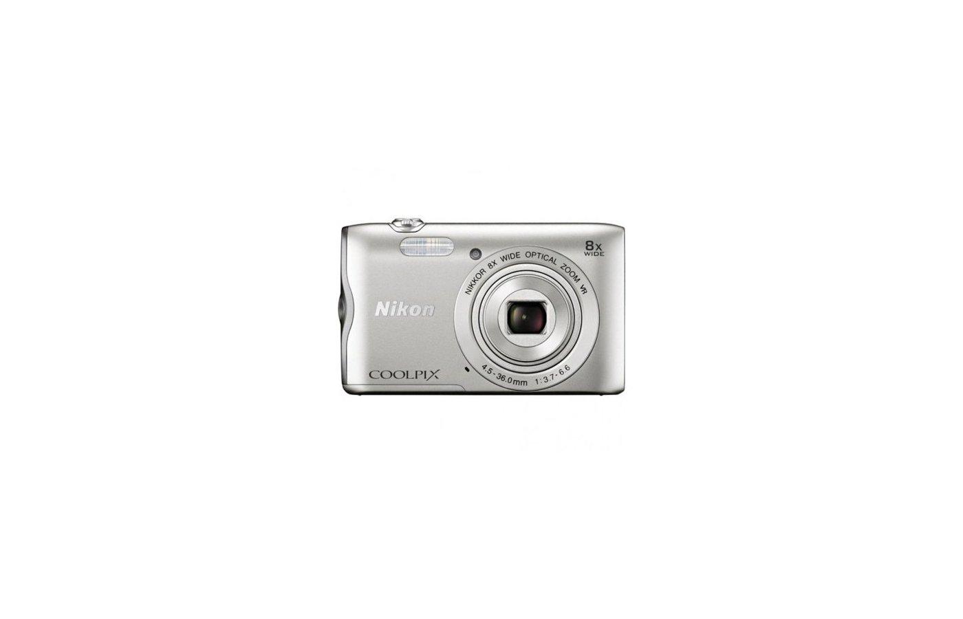Фотоаппарат компактный Nikon Coolpix A300 silver