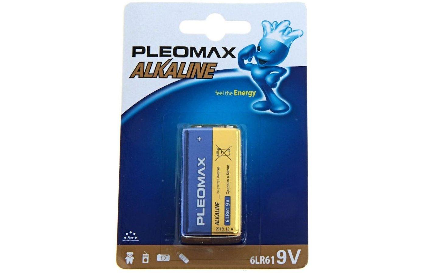 Батарейка SAMSUNG Pleomax Крона 9V 1шт. (6LR61-1BL)