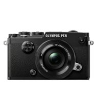 Фотоаппарат со сменной оптикой OLYMPUS PEN-F Pancake Zoom Kit blk/blk / PEN-F black + EZ-M1442EZ black incl. Charger + Battery