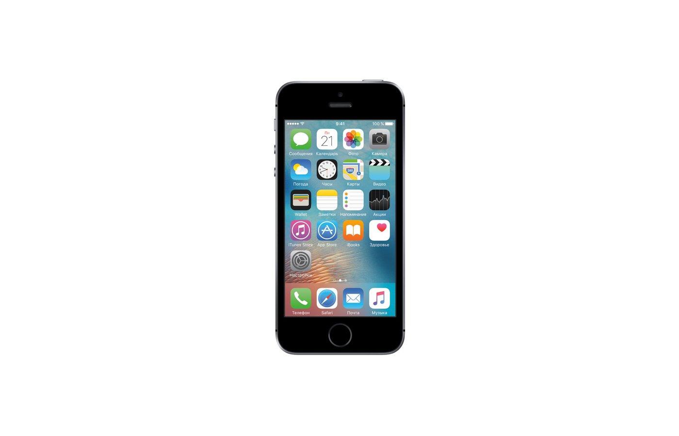Смартфон Apple iPhone SE 16Gb Grey MLLN2RU/A