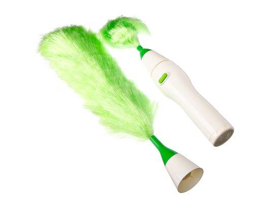 Инвентарь для уборки 490-068 Щетка для удаления пыли электрическая две насадки 20см