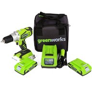Фото Дрель Greenworks GD24DDK2