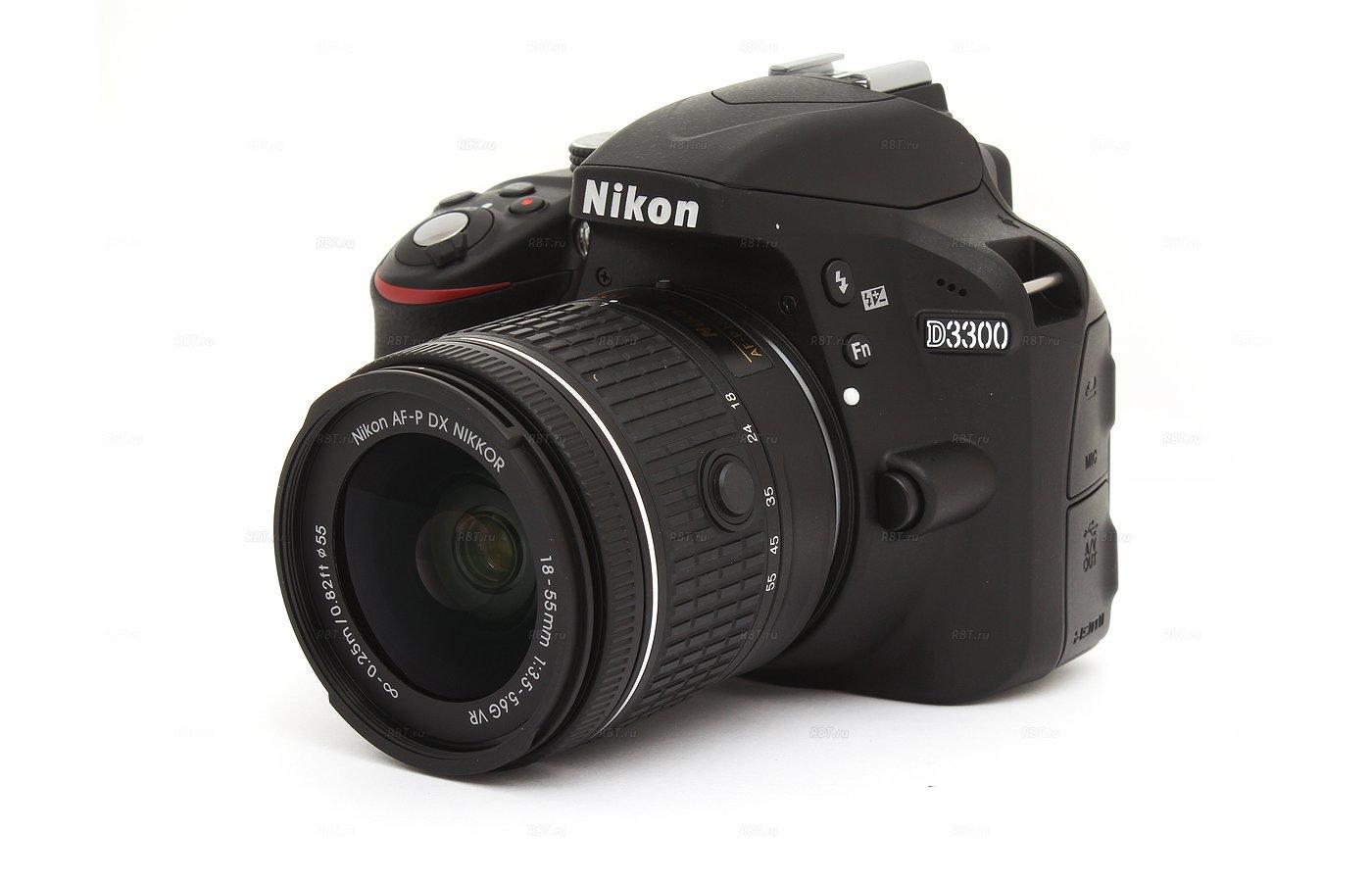 Фотоаппарат зеркальный Nikon D3300 18-55VR AF-P black