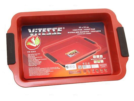 Форма для выпечки металлическая VITESSE VS-2353 Ф д/в 33х23х5см керам
