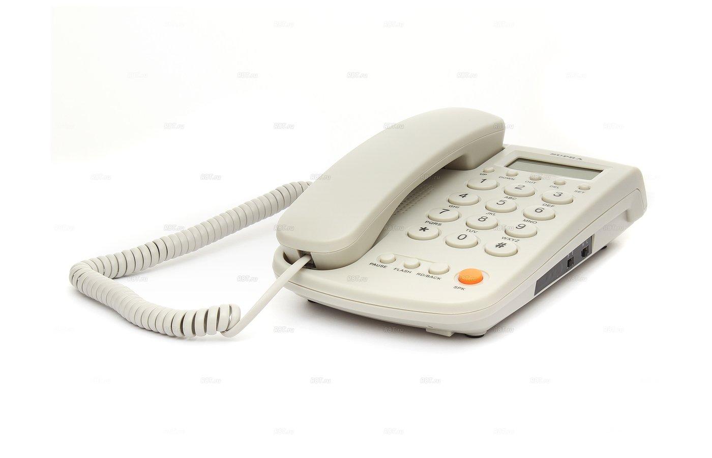 Проводной телефон SUPRA STL-420 grey
